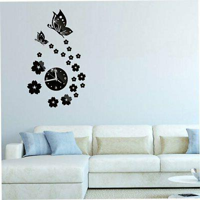 butterfly needle quartz wall clocks for modern