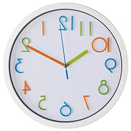 colorful kids wall clock silent