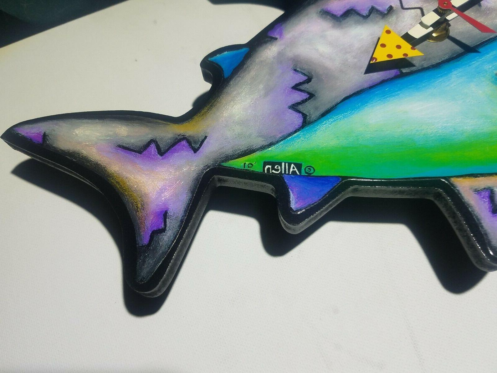 Allen Colorful w/ Surfer Wall Clock