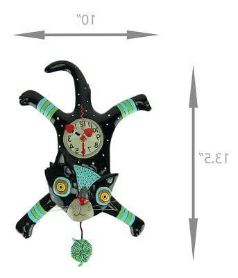 Allen Designs Craft Cat Pendulum Clock