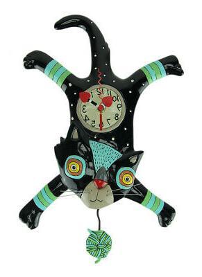craft attack cat pendulum wall clock