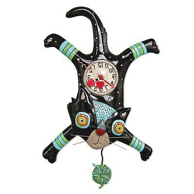 craft attack kitty cat pendulum wall clock