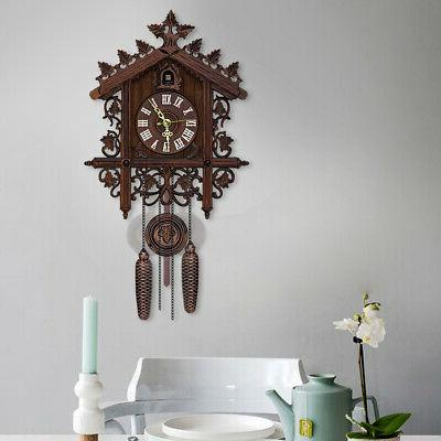 cuckoo clock forest house swing wall alarm
