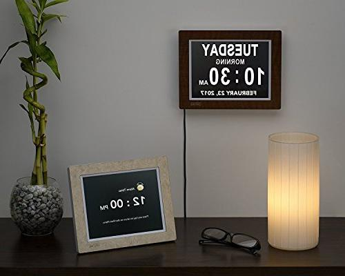 Lifetime Clock Impaired Vision Digital with Backup 5 Alarm
