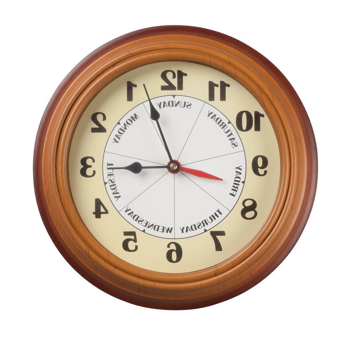day of the week clock wall clocks