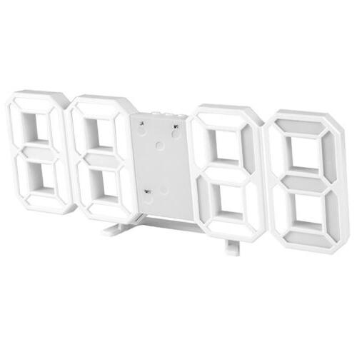 Digital 3D Wall Alarm Snooze 12/24 Hours Brightness