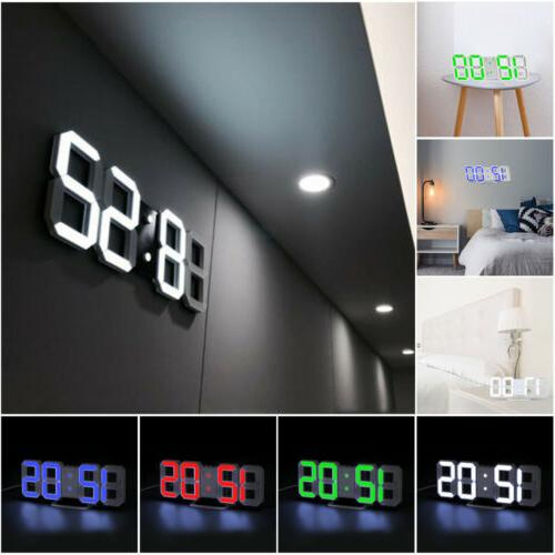 digital 3d led big wall desk alarm