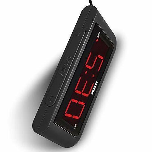 Digital Alarm Clock LED Large Number Home Desk Portable