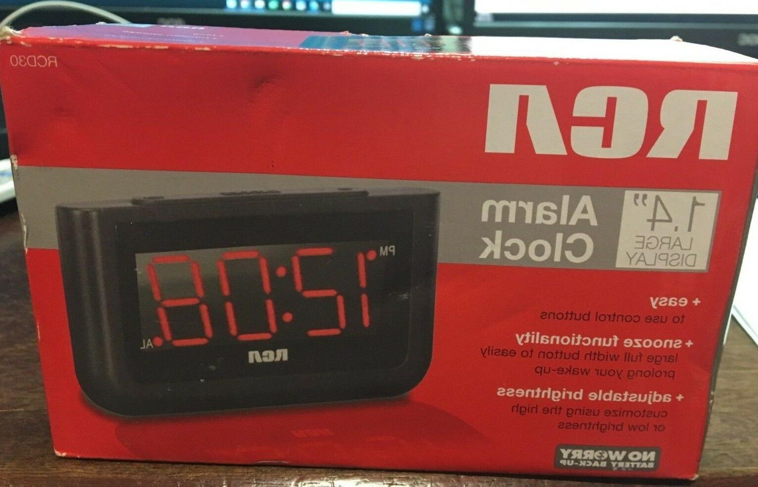 digital alarm clock with large 1 4