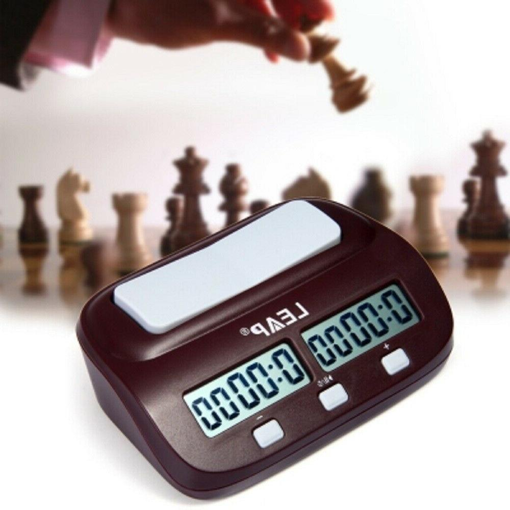 LEAP Digital Chess Clock I-go Count Up Down Timer for Home,O