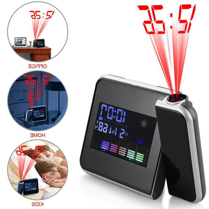 digital projection alarm clock tempreture led date