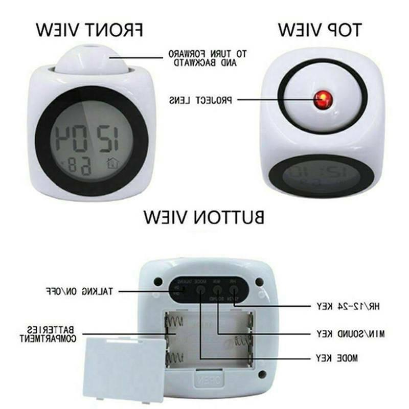 Electronic Digital Alarm Clock Operated Home
