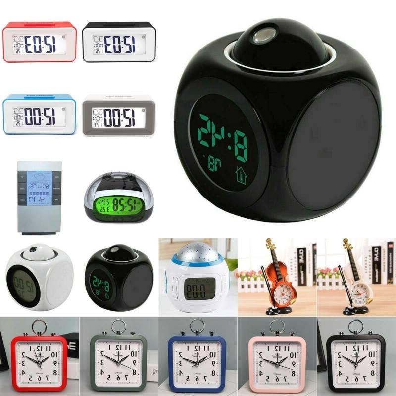 electronic led digital analog alarm clock calendar