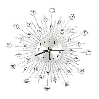 Elegant Diamond Wall Room Clock Home Decor