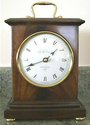 English Clock Nib Quartz Solid Mahogany Veneers