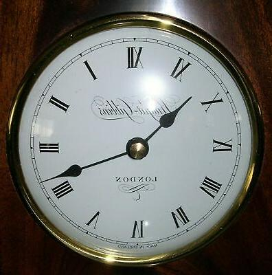 English Mantel Clock Nib Quartz Mahogany