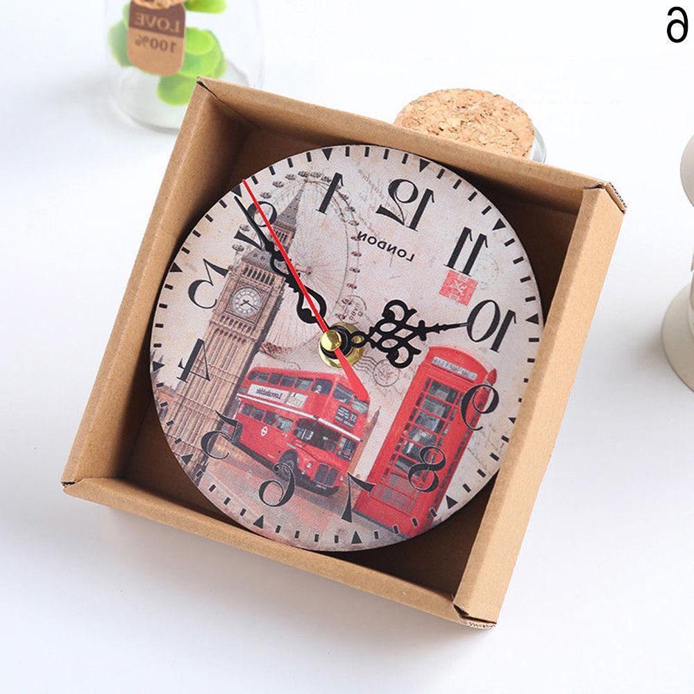 EP_ Home Room Antique Decor Wall Clocks Decoration Clock Shabby Exo