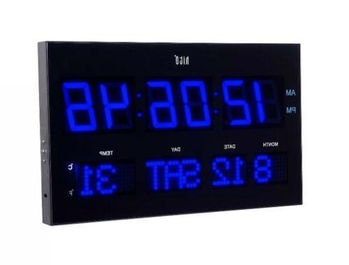 extra large oversized led wall clock w