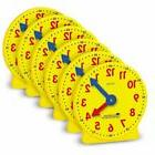 Gear Clock, 4 Inch, Set of 6 Kids Learning Time Tool New Chi