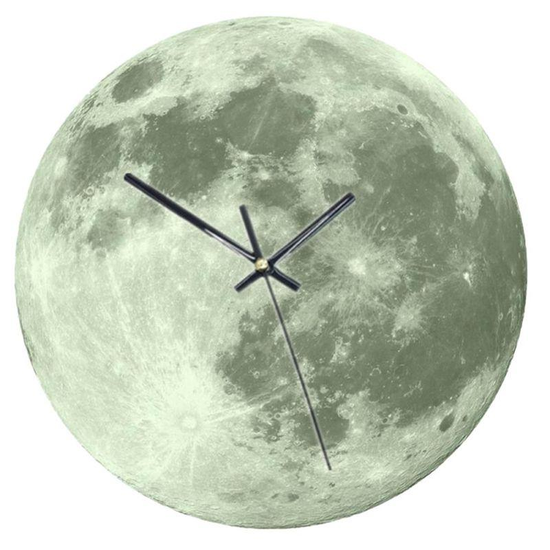 Glowing Wall Clock Moonlight Luminous Night Light In The Dark Home