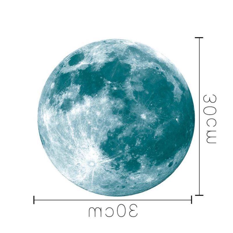 Glowing Moon Moonlight Luminous In Home
