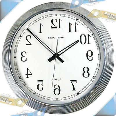 Timekeeper 16in Glv Mtl Wall Clk Sil