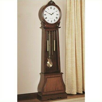 Grandfather Floor standing Clock in Cherry Wood with Round F