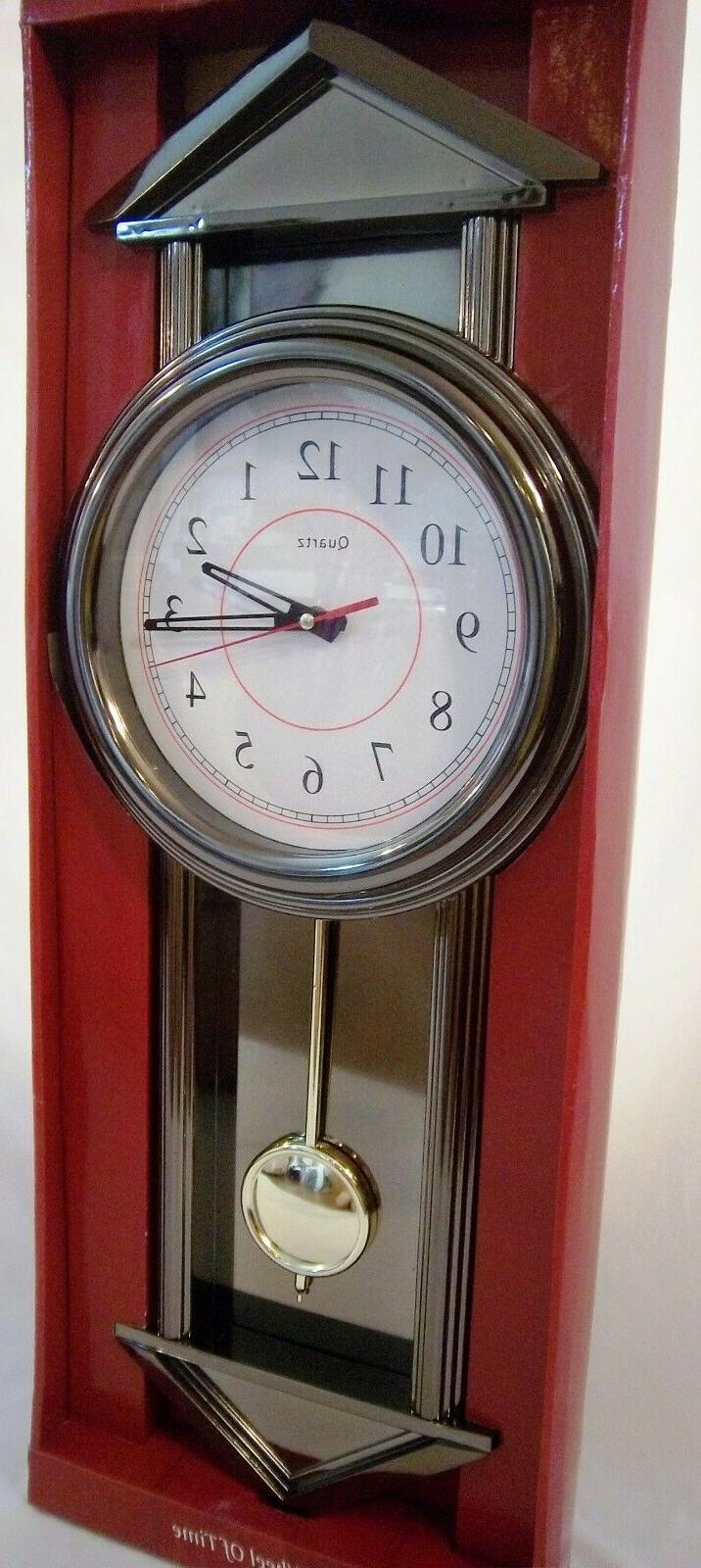 GRANDFATHER BATTERY CLOCK W/CHIMES,