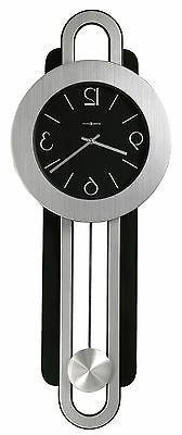 Howard Miller 625-340  Gwyneth Wall Clock - Nickel and Black