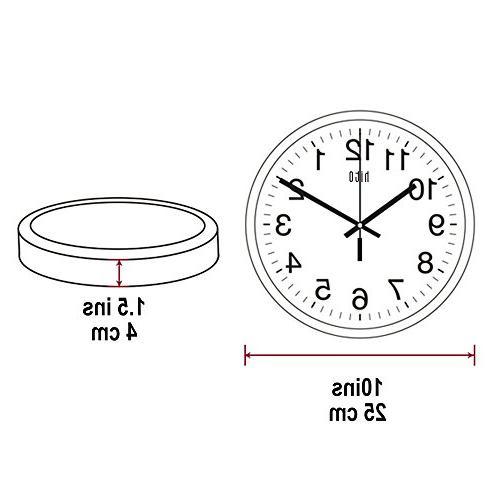Non-ticking Wall Clock, White