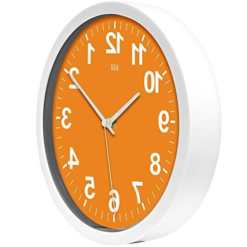 hito Silent Clock Excellent Accurate Modern Decorative Living Room, Bedroom, Office, Classroom