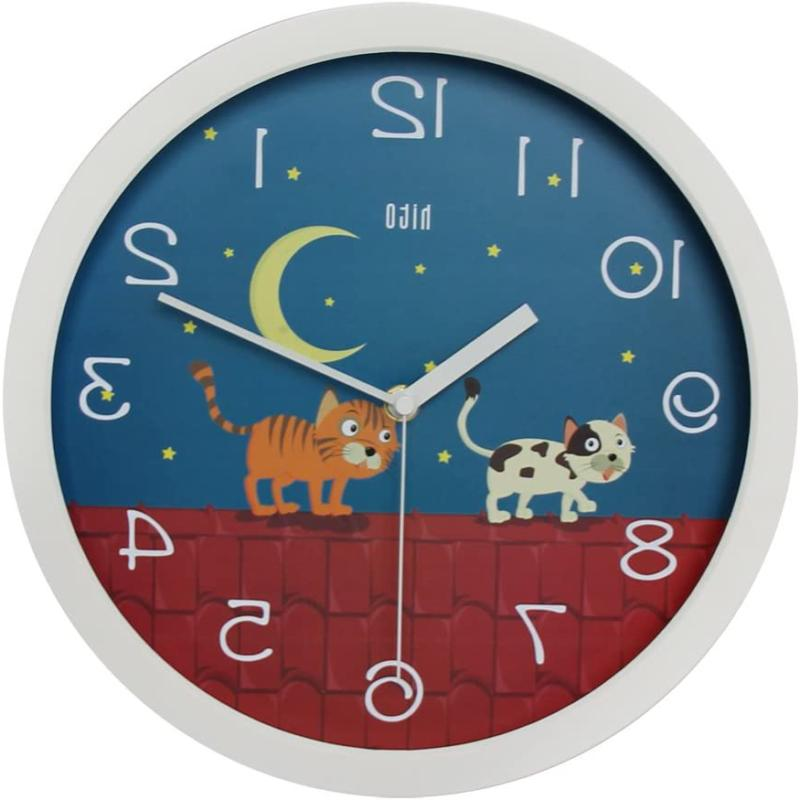 HITO Silent Kids Wall Clock Non Ticking 12 inch Excellent Ac