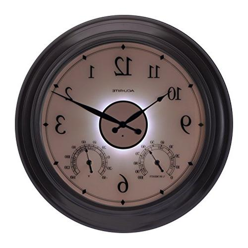 """AcuRite 75133M Illuminated Outdoor Clock with and 24"""","""