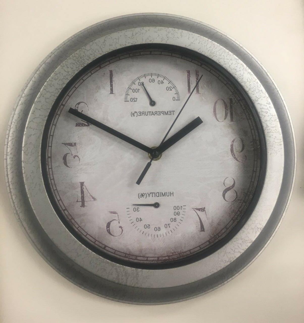 indoor outdoor wall clock with temperature