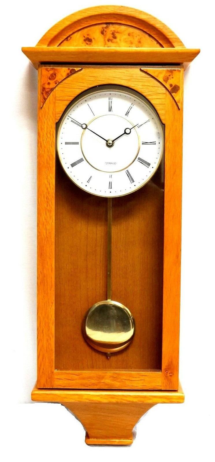 J&D Pendulum Wall Clock Silent classic Battery