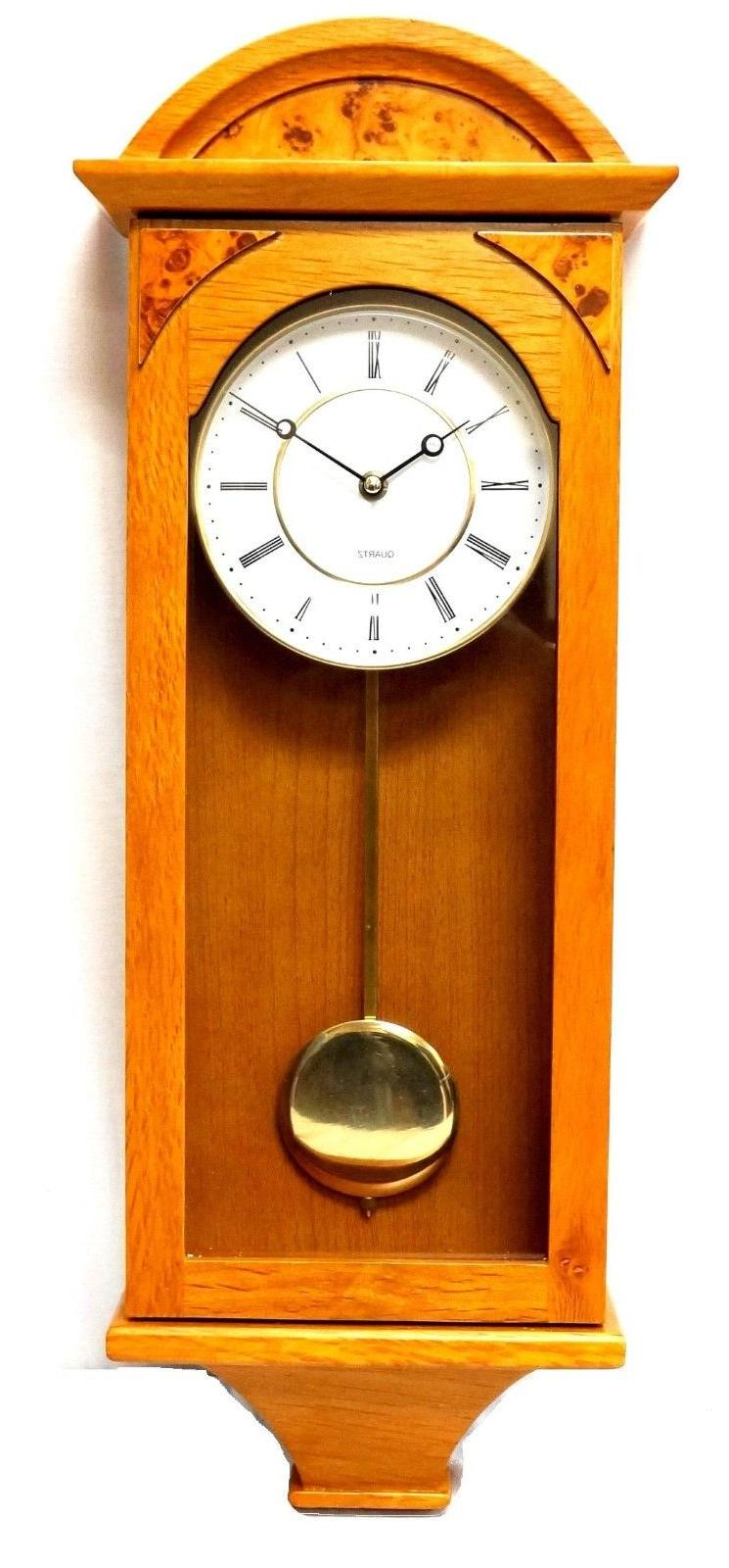 J&D Pendulum Wall Clock Silent classic Battery