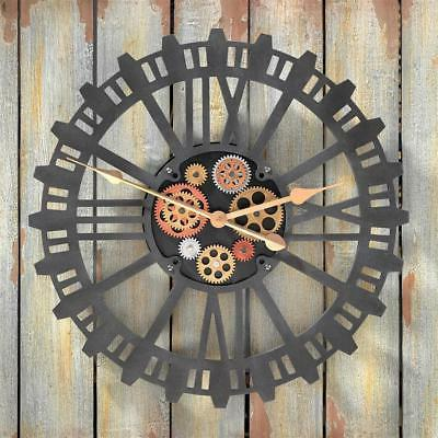 jn616623 synchronized sprockets and gears wall clock