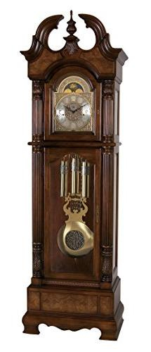 Kensington Grandfather Clock in Royale Cherry Stained Finish