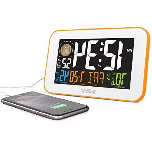 La Crosse Technology LED Alarm with USB Charging Orange