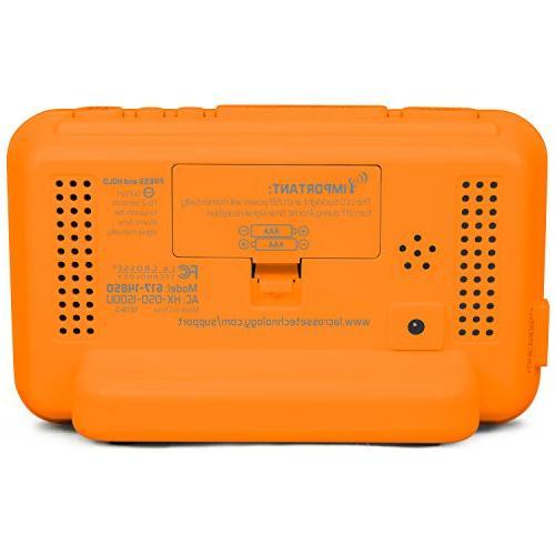 La Technology LED Color Alarm with USB Port, Orange