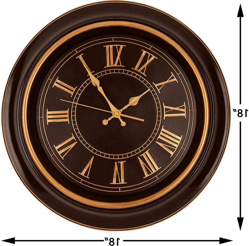 Bernhard Products Wall Clock Quality Silent Ticking,