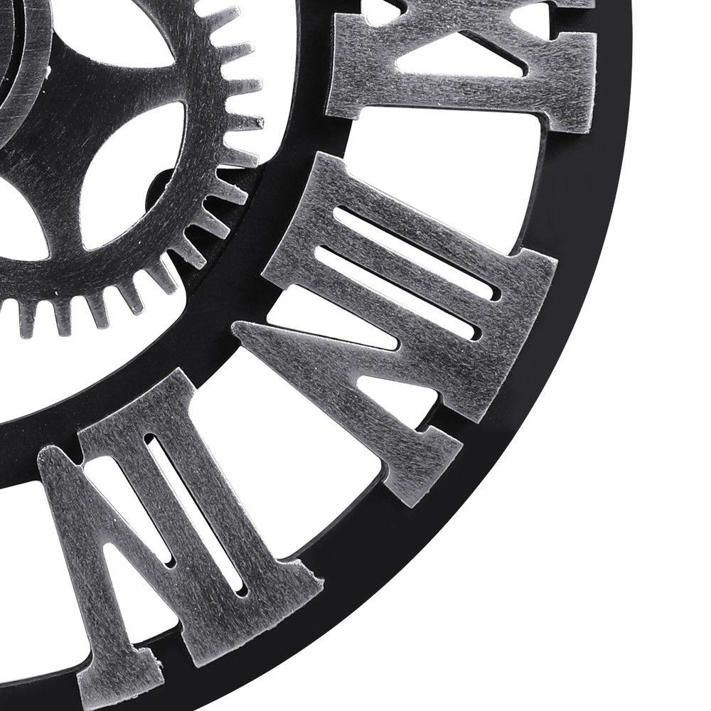 "Large Wall 3D Gear Retro Roman Numerals 12"" 16 inch"