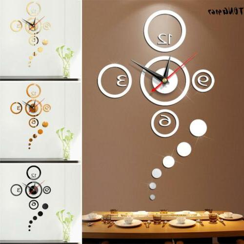 large wall clock big watch decal 3d