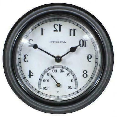 Large Wall Clock Indoor Outdoor Battery Powered Analog with