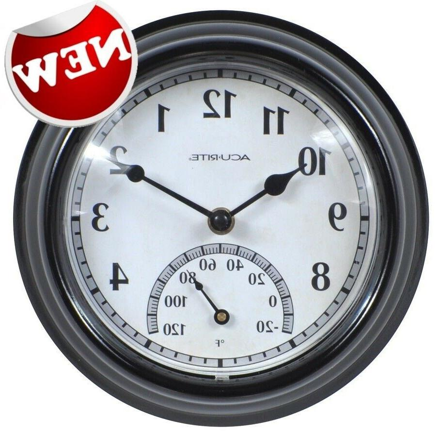 large wall clock indoor outdoor battery powered