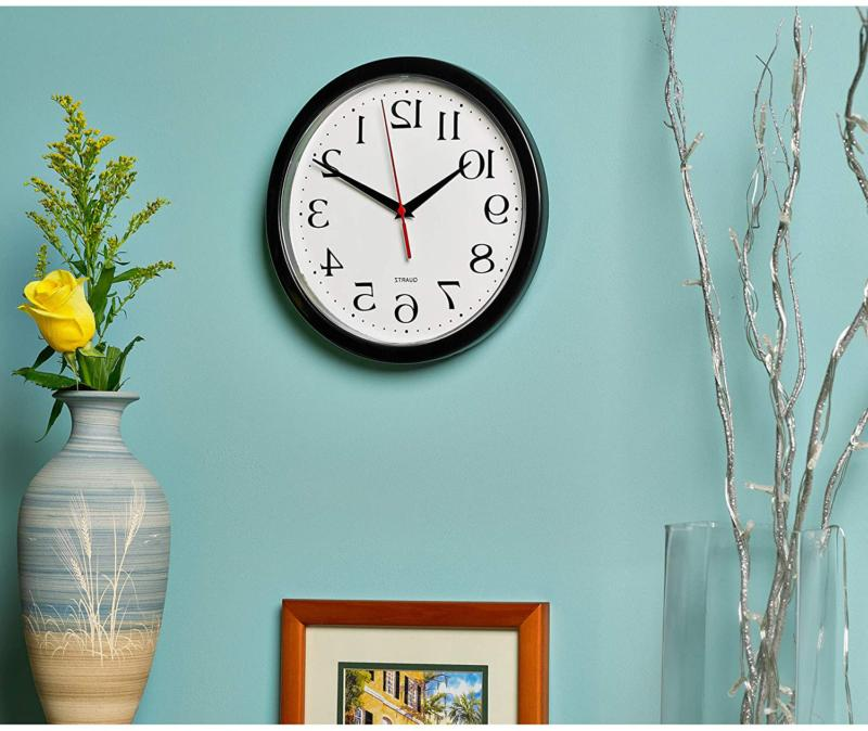 Large Wall Clock Indoor Powered Analog For