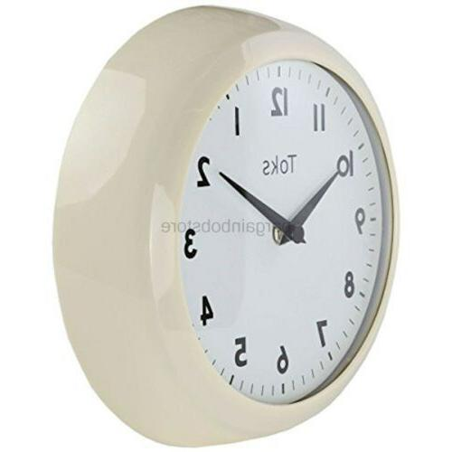Lilyshome Lily's Home Retro Kitchen Wall Clock, Large Dial