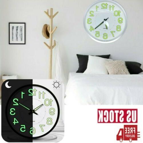 Luminous Wall Clock Silent Large Quartz Night Clocks