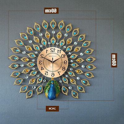 "Luxury Clock 25"" Metal Decor Gift"