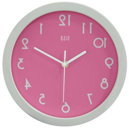 modern colorful silent non ticking wall clock